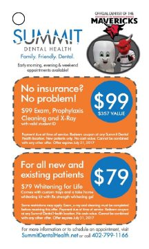 Summit Dental Health Coupons - $99 Exam, Prophylaxis & X-Ray and $79 Whitening for Life
